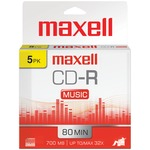 80MIN 5PK CDR MUSIC/AUDIO - 625132 - By MAXELL