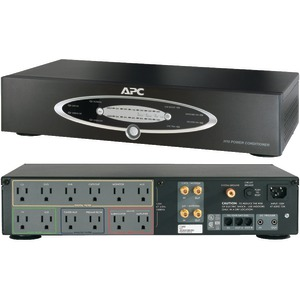 12-OUTLET H-TYPE POWER CONDITIONER WITH COAXIAL PROTECTION (BLACK) - H10BLK - APC