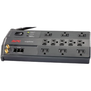 11-OUTLET PERFORMANCE SURGEARREST WITH TELEPHONE SPLITTER &amp; COAXIAL PROTECTION - P11VT3 - APC