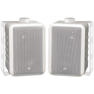 INDOOR/OUTDOOR 3-WAY SPEAKERS (WHITE) - RTRV44-2W - BIC AMERICA