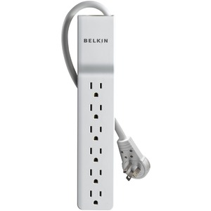 6-OUTLET HOME/OFFICE SURGE PROTECTOR WITH ROTATING PLUG - BE106000-08R - BELKIN
