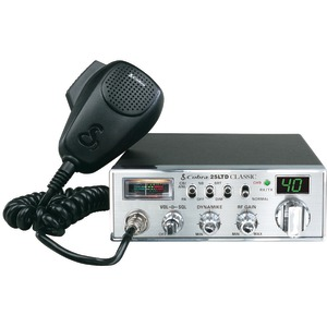 40-CHANNEL CLASSIC CB RADIO WITH DYNAMIKE GAIN CONTROL - 25 LTD - COBRA