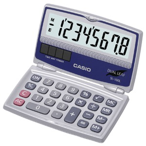 SOLAR CALCULATOR WITH FOLDING HARD CASE - SL-100L - CASIO