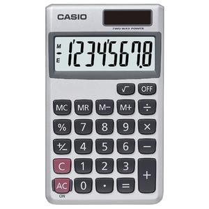 WALLET 8-DIGIT SOLAR CALCULATOR - SL300VE/SL300SV - CASIO