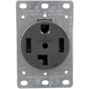 SINGLE-FLUSH DRYER RECEPTACLE (4 WIRE) - 278 - PASS &amp; SEYMOUR