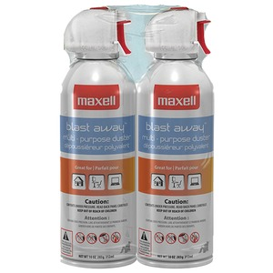2-PK BLAST AWAY CANNED - 190026 - CA4 - MAXELL
