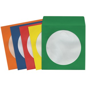 CD/DVD STORAGE SLEEVES (100 PK; COLORS) - 190132 - CD403 - MAXELL
