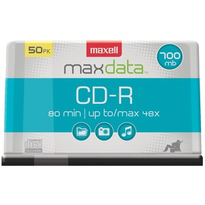 80-MINUTE/700 MB CD-RS (50-CT SPINDLE) - 623251/648250 - MAXELL