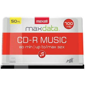 MUSIC CD-RS (50-CT SPINDLE) - 625156 - CDR80MU50PK - MAXELL