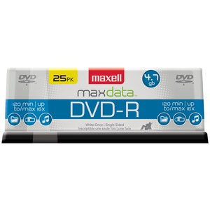 4.7 GB DVD-RS 25-PK - 635052/638010 - MAXELL