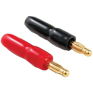 GOLD-PLATED, CRIMP-ON BANANA PLUGS (CRIMP-ON TYPE BANANA PLUGS (COLOR-CODED, 16-PK––8 RED/8 BLACK)) - IW-16PLUG - SYLVANIA