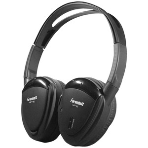 SWIVEL EAR PAD, SINGLE-CHANNEL INFRARED WIRELESS HEADPHONES - HP-11S - POWER ACOUSTIK