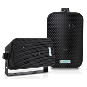 3.5'' INDOOR/OUTDOOR WATERPROOF SPEAKERS (BLACK) - PDWR30B - PYLE