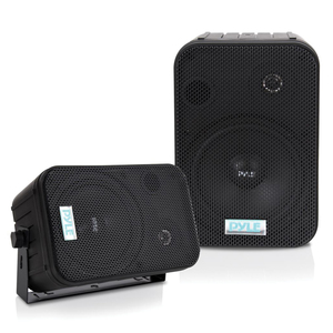 6.5'' INDOOR/OUTDOOR WATERPROOF SPEAKERS (BLACK) - PDWR50B - PYLE