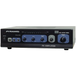 AMPLIFIER WITH MICROPHONE INPUT (80-WATT) - PA105 - PYRAMID
