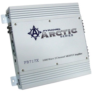 MOSFET ARCTIC SERIES AMPLIFIER (1000-WATT; 2-CHANNEL) - PB717X - PYRAMID