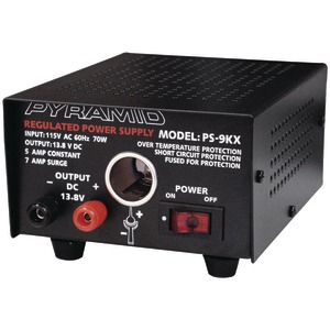 POWER SUPPLY (5A/7A WITH CIGARETTE LITER PLUG) - PS9KX - PYRAMID