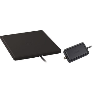 HOME THEATER STYLE MULTI-DIRECTIONAL DIGITAL FLAT AMPLIFIED ANTENNA (BLACK) - ANT1450B - RCA