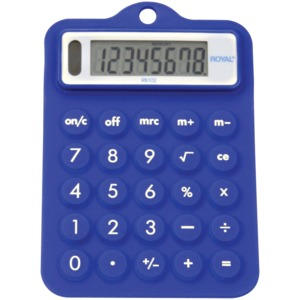 BLUE RUBBER CALCULATOR - 29311R - ROYAL