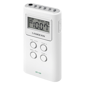 POCKET AM/FM DIGITAL RADIO (WHITE) - DT-120 WHITE - SANGEAN