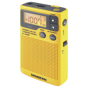 DIGITAL AM/FM POCKET RADIO WITH WEATHER ALERT - DT-400W - SANGEAN