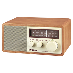 WOOD CABINET AM/FM TABLE TOP RADIO - WR11 - SANGEAN