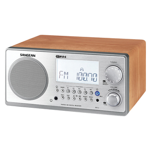 DIGITAL AM/FM STEREO SYSTEM WITH LCD &amp; ALARM CLOCK (WALNUT) - WR2WAL - SANGEAN
