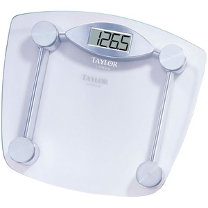 CHROME & GLASS LITHIUM DIGITAL SCALE - 7506 - TAYLOR