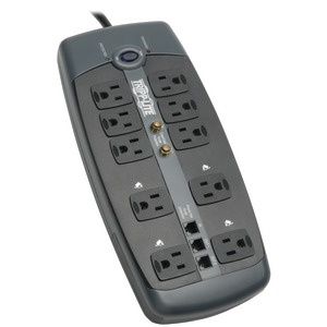 10-OUTLET BLOCK-STYLE SURGE SUPPRESSOR WITH TELEPHONE PROTECTION (WITH COAXIAL PROTECTION) - TLP1008TELTV - TRIPPLITE
