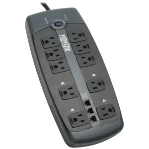 10-OUTLET BLOCK-STYLE SURGE SUPPRESSOR WITH TELEPHONE PROTECTION (WITHOUT COAXIAL PROTECTION) - TLP1008TEL - TRIPPLITE