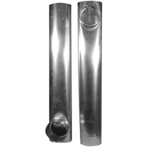 "SKINNY DUCT TELESCOPING ALUMINUM VENT (27""– 48"") - DAF2 - NONE"