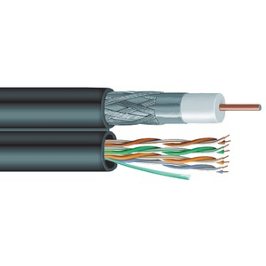 SIAMESE RG6 COAXIAL/CAT-5E CABLE - V6C5E - VEXTRA