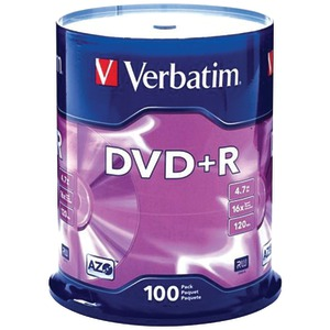100 CT 4.7 GB DVD+RS - 95098 - VERBATIM