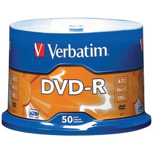 50 CT 4.7 GB DVD-RS - 95101 - VERBATIM