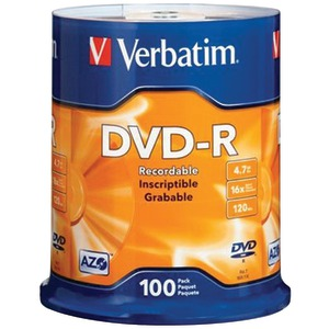 100 CT 4.7 GB DVD-RS - 95102 - VERBATIM