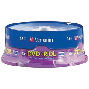 15-CT DL 8.5GB DVD+RS - 95484 - VERBATIM