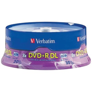 30-CT DL 8.5GB DVD+RS - 96542 - VERBATIM