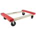 MONSTER TRUCKS MT10002 WOOD 4-WHEEL PIANO RUBBER CAP DOLLY (LOAD CAPACITY: 800 LBS; STANDARD DUTY)